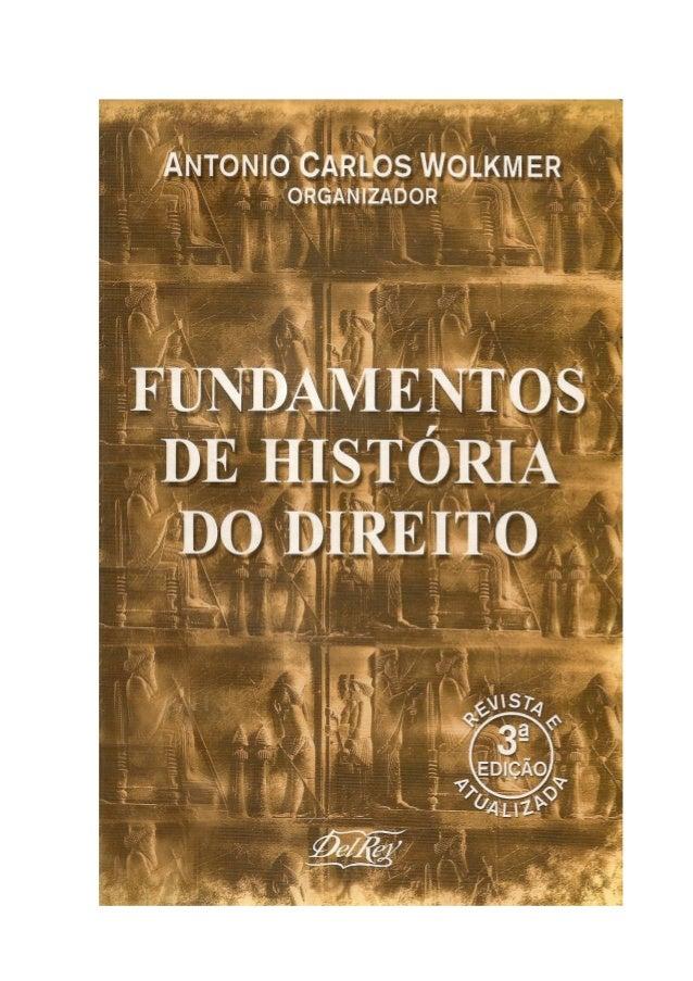 FUNDAMENTOS DE HISTÓRIADO DIREITO