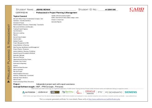 ppm certificate