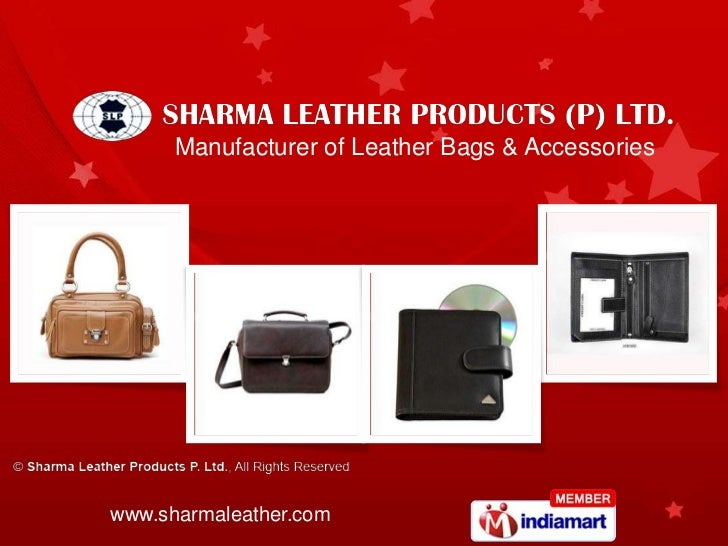 Manufacturer of Leather Bags & Accessorieswww.sharmaleather.com