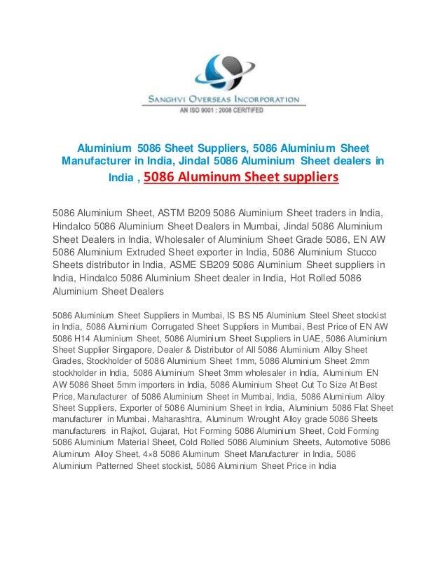 5086 aluminium sheet suppliers