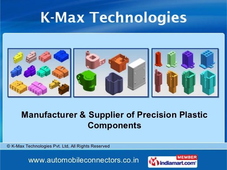 Manufacturer & Supplier of Precision Plastic Components