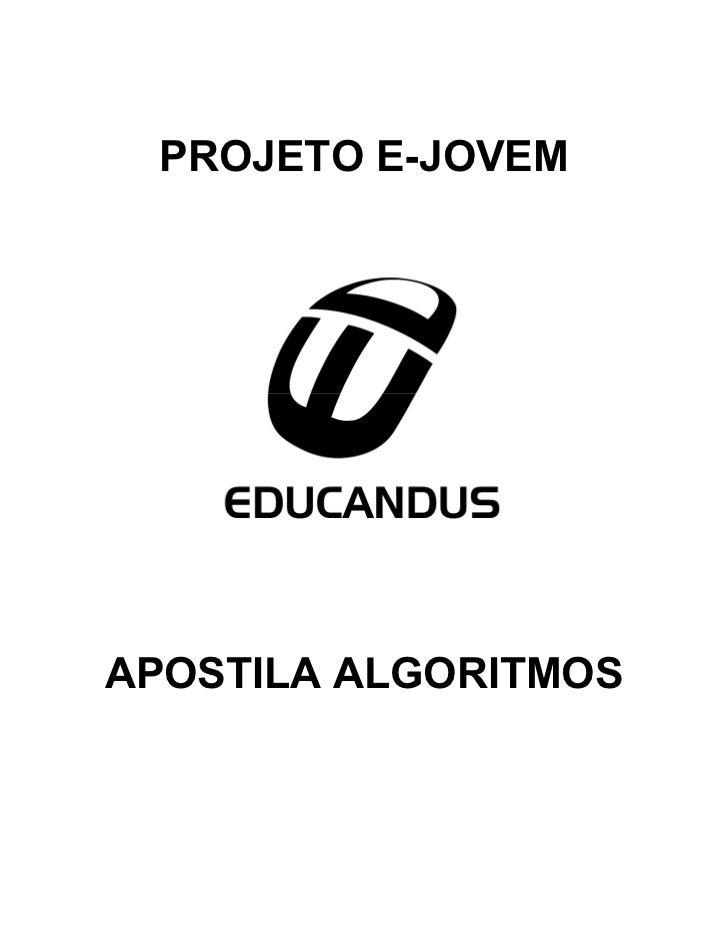 PROJETO E-JOVEMAPOSTILA ALGORITMOS