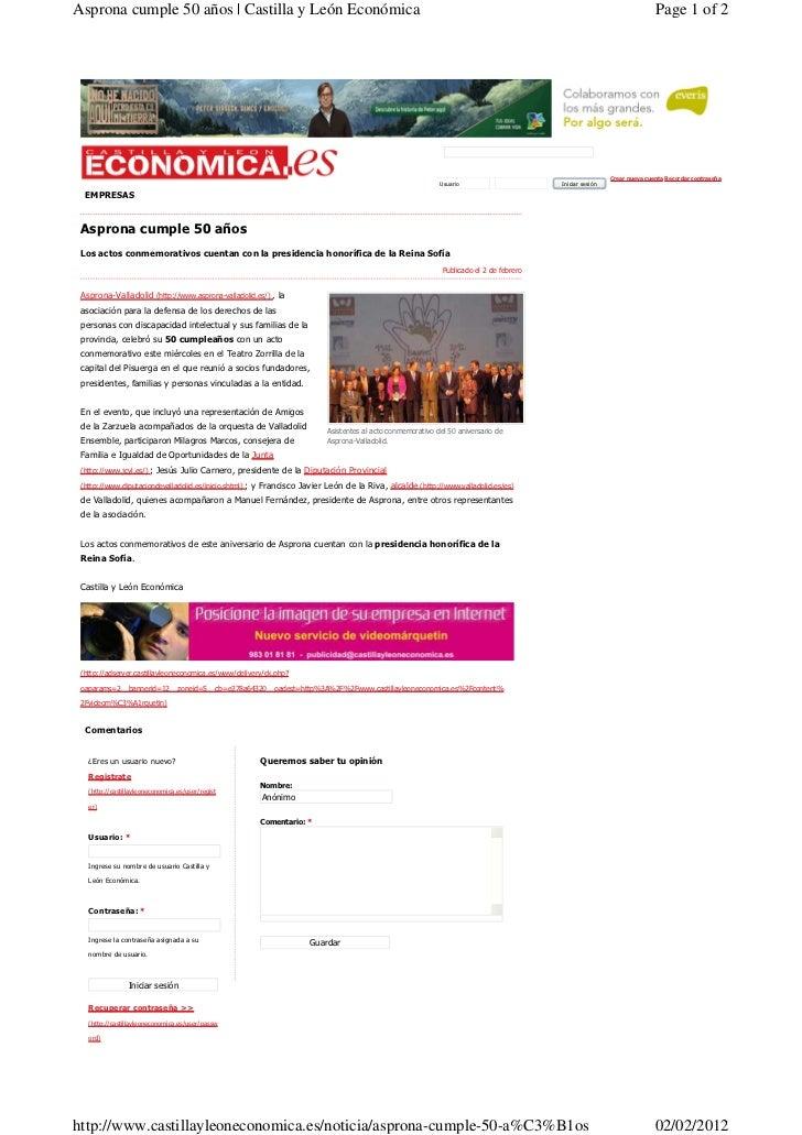Asprona cumple 50 años | Castilla y León Económica                                                                        ...
