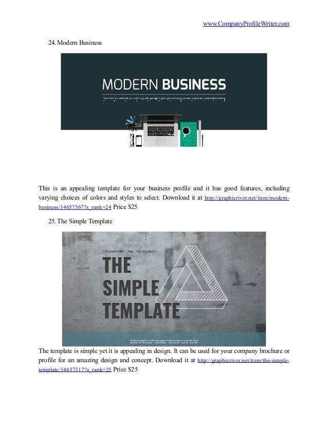 Best 50 company profile templates 2016 13 accmission Images