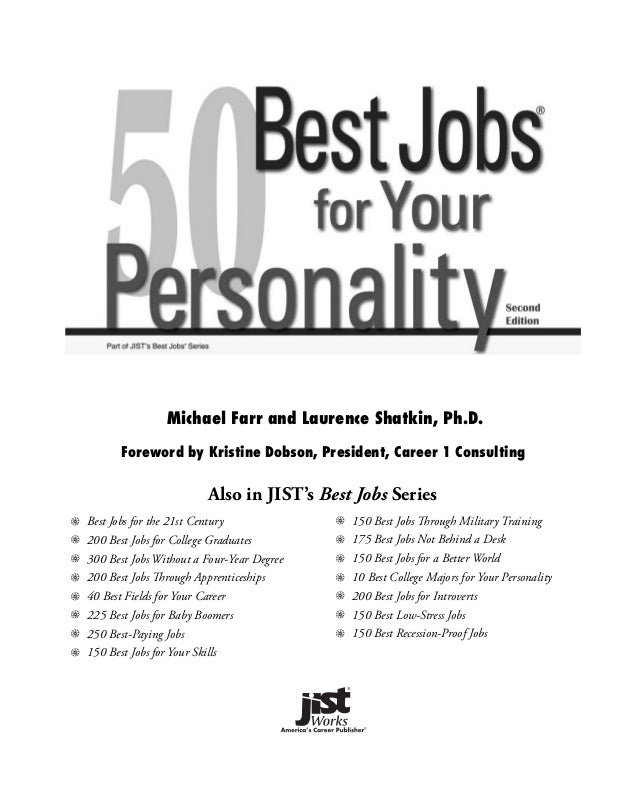 Book 50 Best Jobs For Your Personality border=