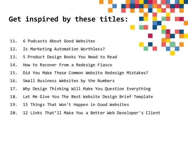50 Blog Post Ideas For A Web Designer S Blog
