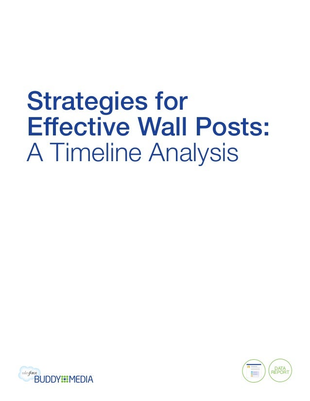 Strategies forEffective Wall Posts:A Timeline Analysis                         data                        Report