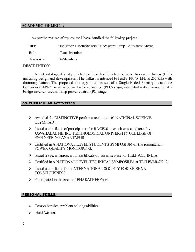bnglr resume