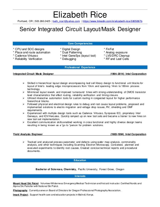 IC Layout Designer ResumeBethRiceNewFormat