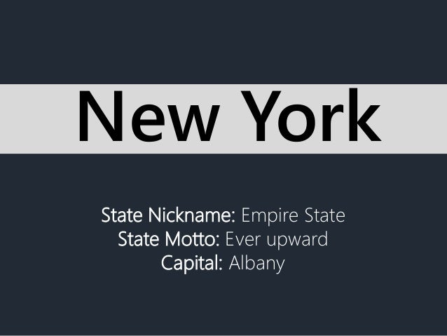 state nickname empire state state. Black Bedroom Furniture Sets. Home Design Ideas