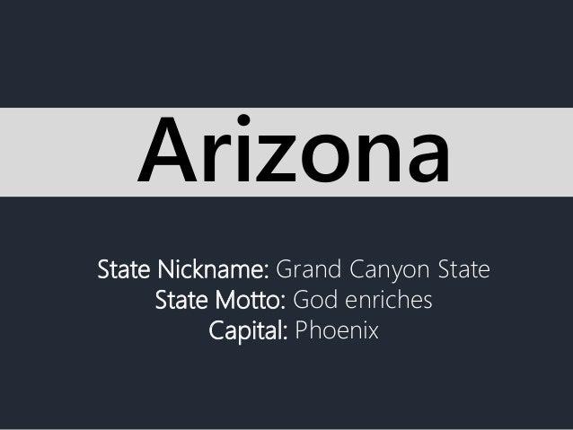 state nickname  grand canyon state