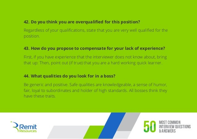 how to answer common interview questions examples