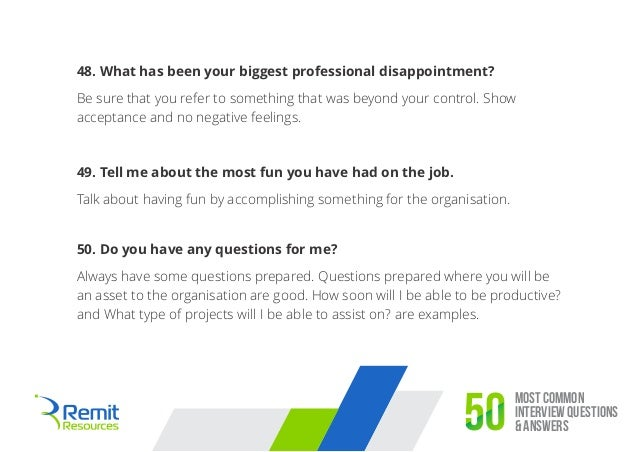 Captivating 21. Most Common Interview Questions ...