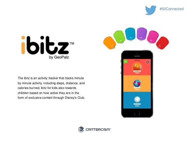 #50Connected  The ibitz is an activity tracker that tracks minute  by minute activity, including steps, distance, and  cal...