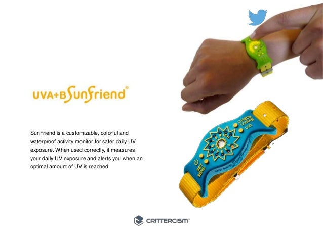 #50Connected  SunFriend is a customizable, colorful and  waterproof activity monitor for safer daily UV  exposure. When us...