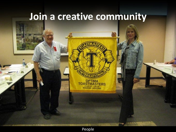 Join a creative community                People