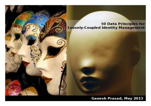 """50 Data Principles for Loosely-Coupled Identity Management""Version 1.0, May 2013© Ganesh PrasadThis work is licensed unde..."