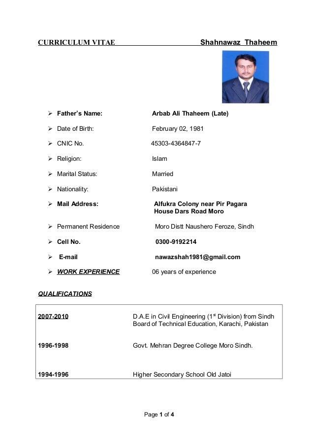 Shahnawaz Latest CV dated 16,September 2015