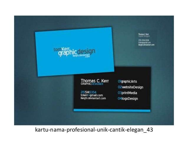 50 desain kartu nama unik dan inspiratif yang akan
