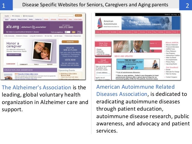 50 Disease Specific Websites For Seniors, Caregivers And