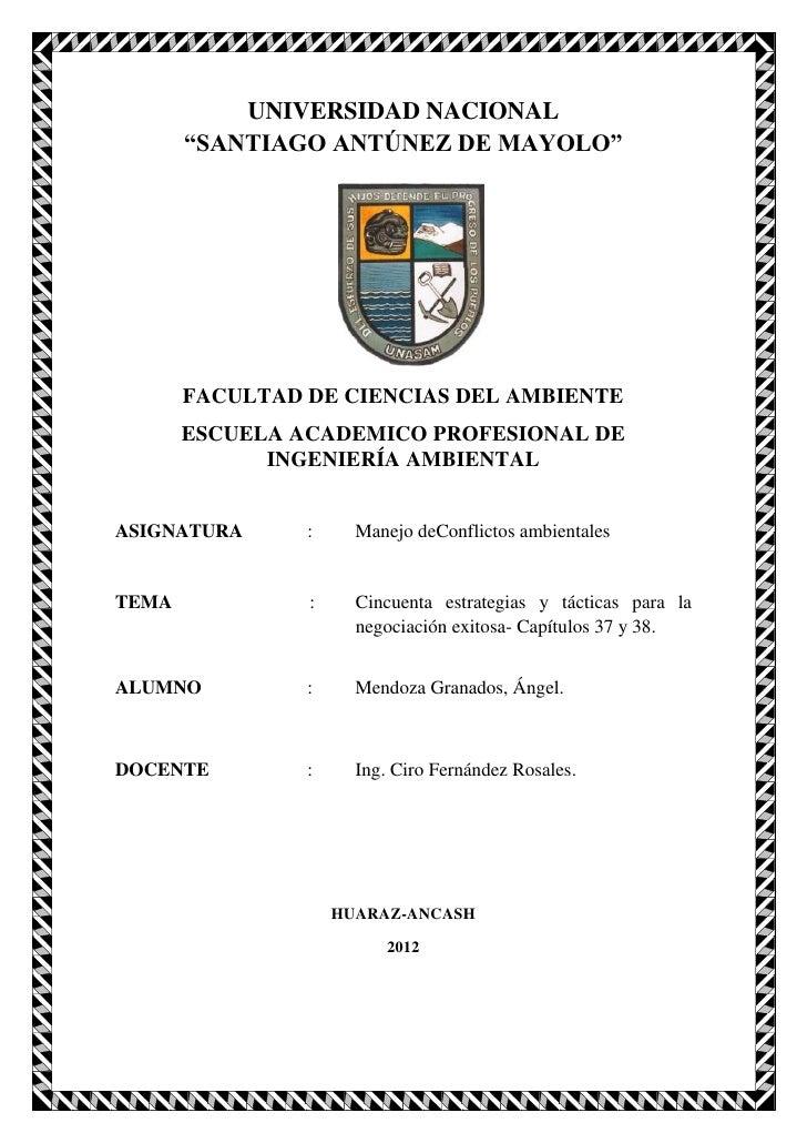 """UNIVERSIDAD NACIONAL       """"SANTIAGO ANTÚNEZ DE MAYOLO""""       FACULTAD DE CIENCIAS DEL AMBIENTE       ESCUELA ACADEMICO PR..."""