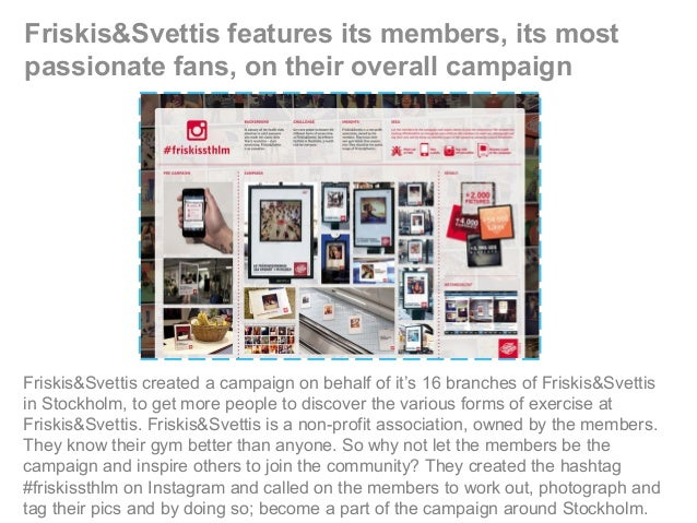 Friskis&Svettis features its members, its most passionate fans, on their overall campaign Friskis&Svettis created a campai...