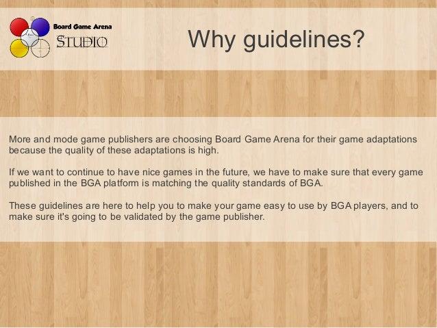 BGA Studio Guidelines Slide 2