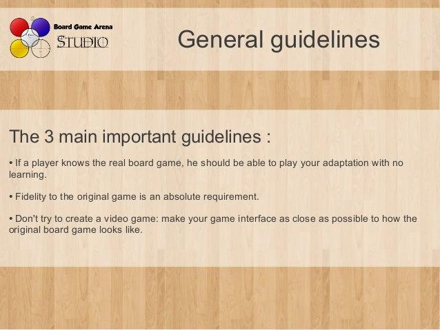 BGA Studio Guidelines Slide 3