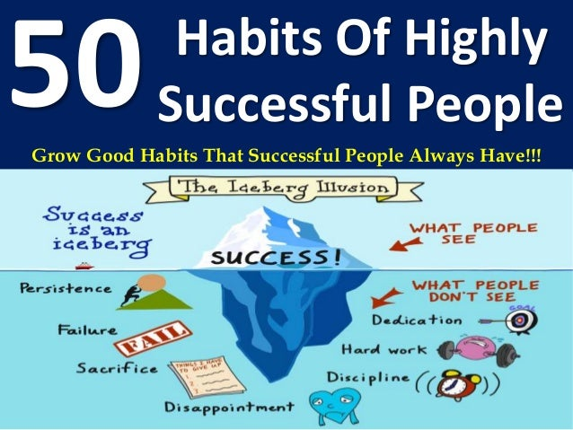 Habits Of Highly 50Successful People Grow Good Habits That Successful People Always Have!!!