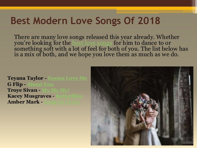 50 Heart Warming Love Songs For Him For 2018