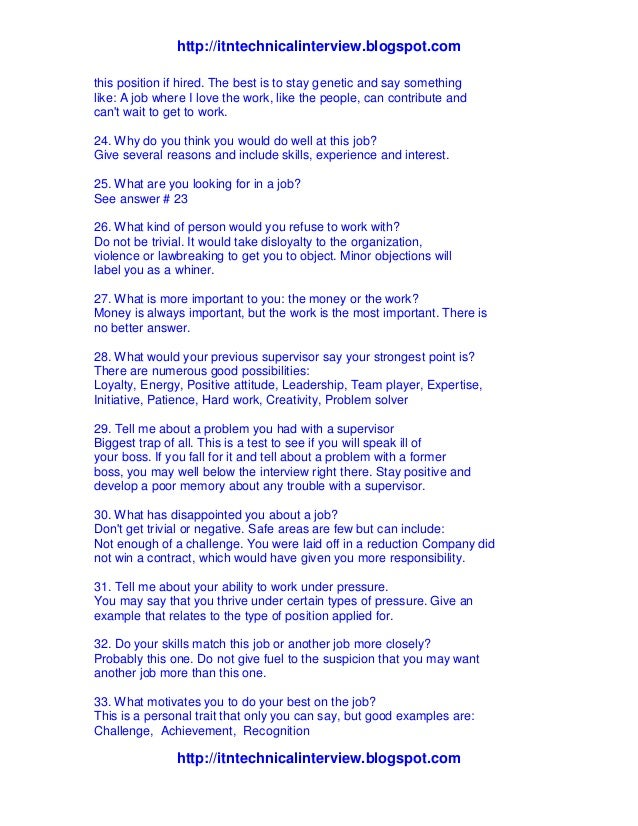 Interview Questions What Motivates You. 15 Toughest Interview Questions ...