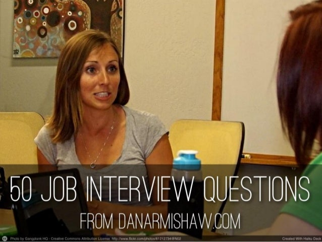 50 job interview questions