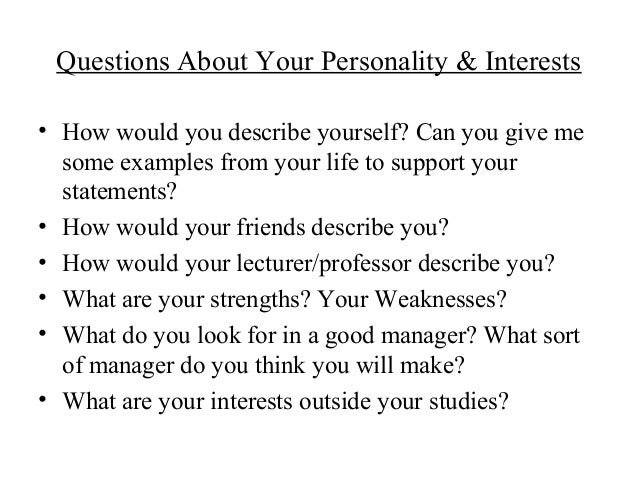 interview personality questions