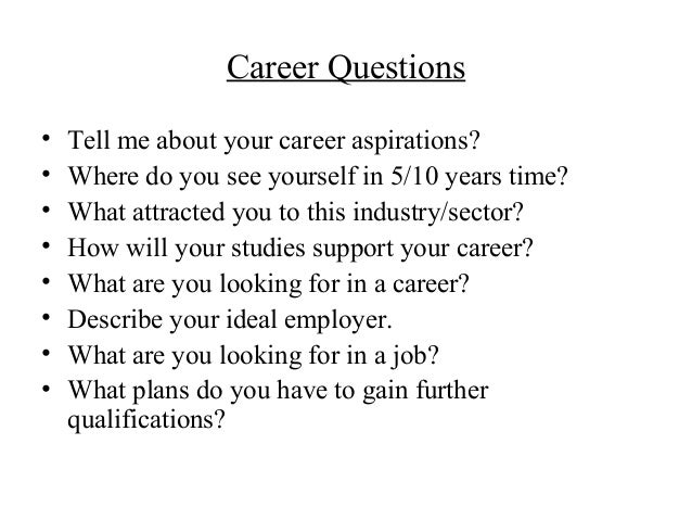 50 likely interview questions for graduates