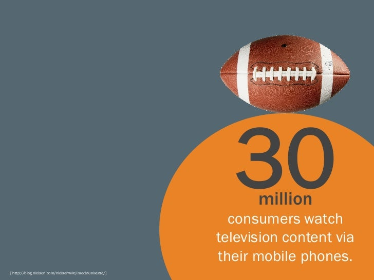 30  million                                                          consumers watch                                      ...