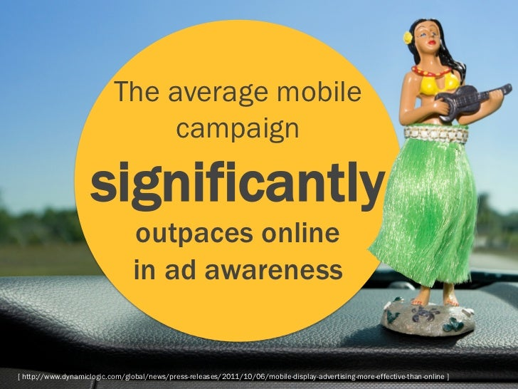 The average mobile                                campaign                    significantly                               ...