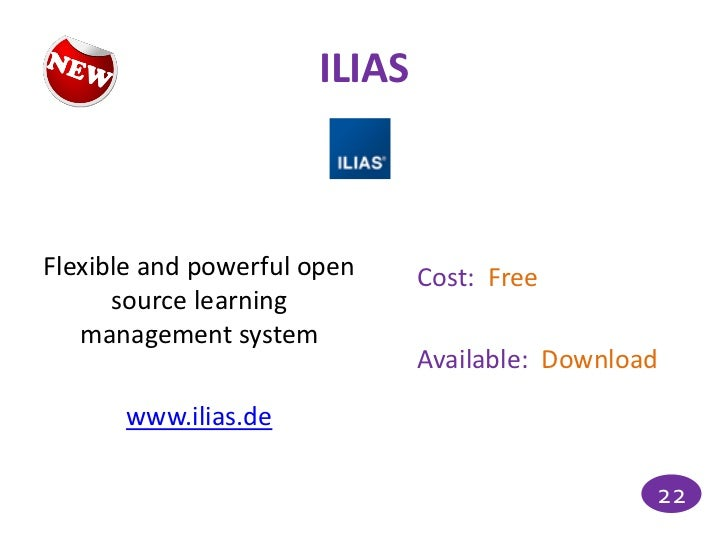 ILIASFlexible and powerful open    Cost: Free      source learning   management system                              Availa...