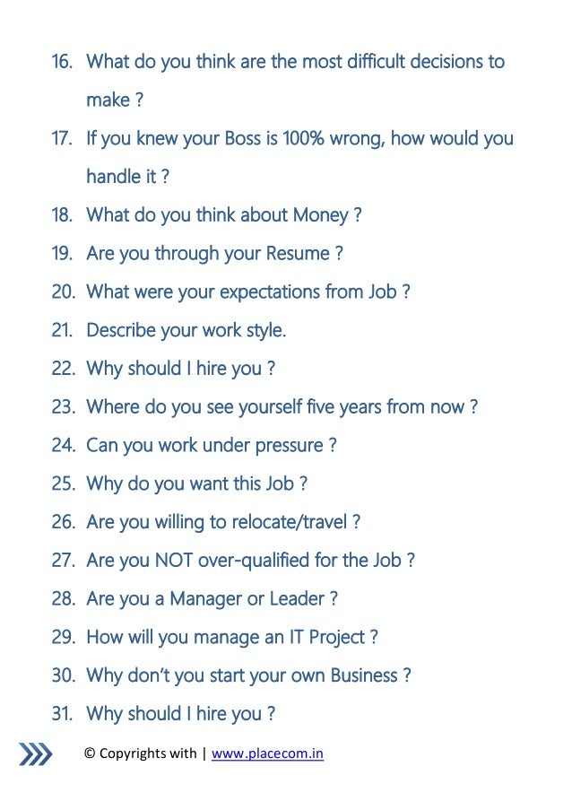 most common interview questions check here