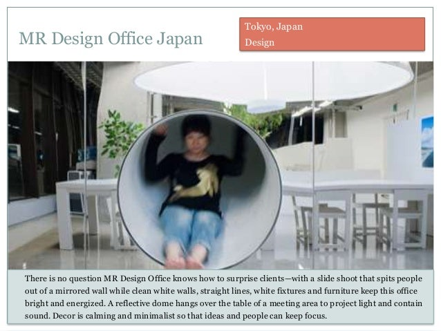 MR Design Office Japan There is no question MR Design Office knows how to surprise clients—with a slide shoot that spits p...