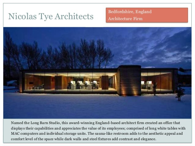Nicolas Tye Architects Named the Long Barn Studio, this award-winning England-based architect firm created an office that ...