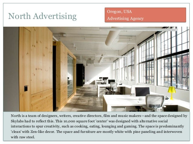 North Advertising North is a team of designers, writers, creative directors, film and music makers—and the space designed ...