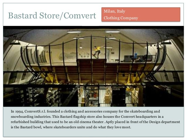 Bastard Store/Comvert In 1994, ComvertS.r.l. founded a clothing and accessories company for the skateboarding and snowboar...
