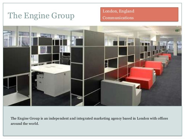 The Engine Group London, England Communications The Engine Group is an independent and integrated marketing agency based i...