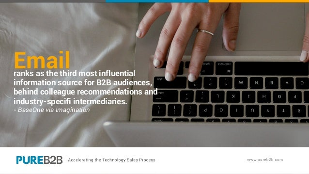 Emailranks as the third most influential information source for B2B audiences, behind colleague recommendations and indust...