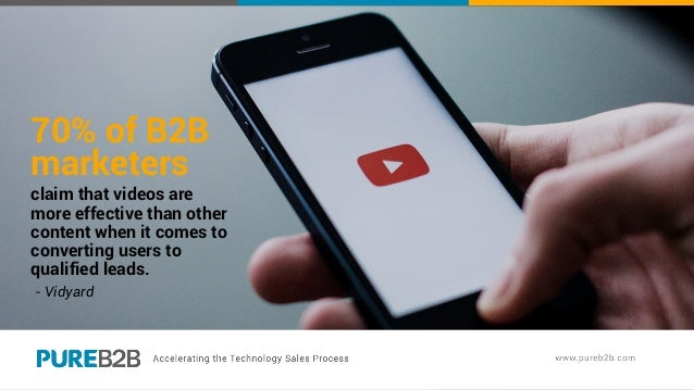70% of B2B marketers claim that videos are more effective than other content when it comes to converting users to qualifie...
