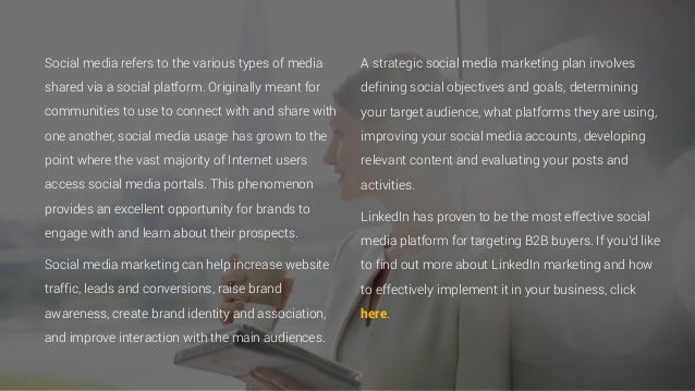 Social media refers to the various types of media shared via a social platform. Originally meant for communities to use to...