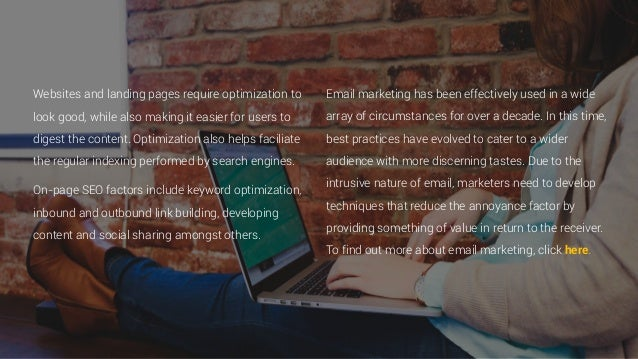 Websites and landing pages require optimization to look good, while also making it easier for users to digest the content....