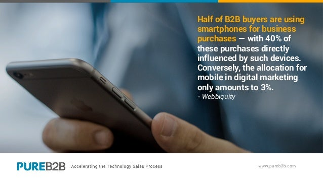 Half of B2B buyers are using smartphones for business purchases — with 40% of these purchases directly influenced by such ...