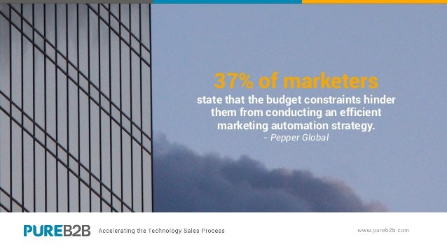 37% of marketers state that the budget constraints hinder them from conducting an efficient marketing automation strategy....