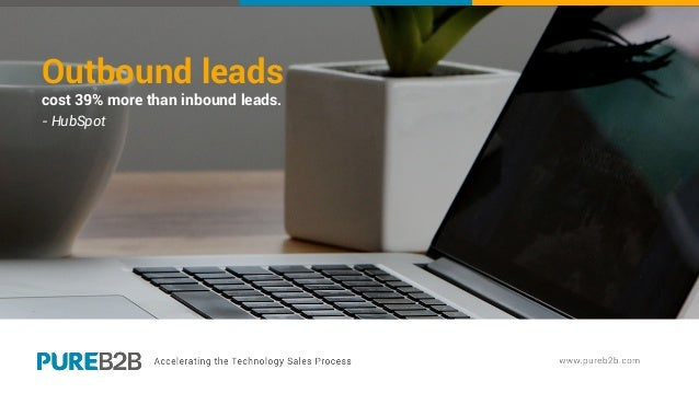 Outbound leads cost 39% more than inbound leads. - HubSpot